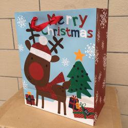 Sac de papier imprimé coloré pour cadeau de Noël tag suspendus