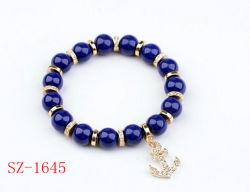 Мода украшения синий валики Anchor Rhinestone сплава браслет (SZ-1645)