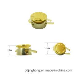 Logotipo da moda liga de zinco em relevo o botão de encaixe metálico com mola