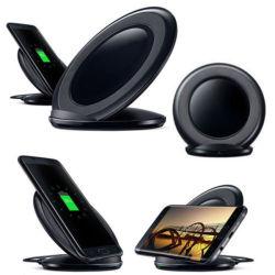 Chargeur sans fil rapide pour Samsung Galaxy S7 Edge / S7 / S8+ / Note5 8/ S6 bord Plus Stand Qi tampon de chargement
