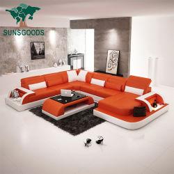 2020 تصميم حديثة جلد شسترفيلد بيتيّة أثاث لازم وقت فراغ أريكة قطاعيّ