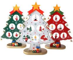 OEM 27cm de madera de una sola pieza adornos del árbol de Navidad regalos de Navidad