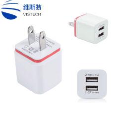 Dos puertos USB 5V 3.1A EU UK Ce Intertek Adaptador de pared cargador de viaje