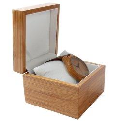 Relógios personalizados punho grossista articulada em madeira de bambu Individual Luxo assistir a caixa personalizada