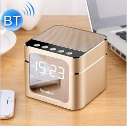 無線Bluetoothのスピーカーのデジタル目覚し時計LEDミラーの表示