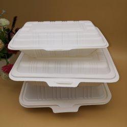 Caixa de alimentos descartáveis biodegradáveis de amido de milho pequenos contentores de plástico biodegradável