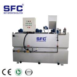 Unidades de preparação de polímero para o tratamento de águas residuais