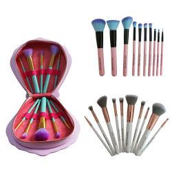 10 pièces ensemble de la brosse de maquillage Mermaid charmant Kit de brosse de maquillage pour les filles beauté Cosmétique Portable outils Brosse Concealer femmes cosmétique