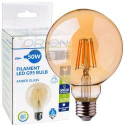 Lampe globe Vintage à gradation Edison E27 Lampe LED B22 G95 8W Lampe LED de filament