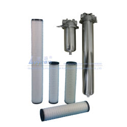 Élément de la membrane plissé multiples de 5 Microns PP filtre de sécurité de la cartouche d'acier inoxydable 222 Boîtier de filtre 10 pouces