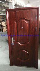 La entrada de madera correderas de PVC de acero puerta de entrada de garaje Patio