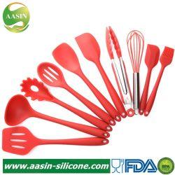 Ferramenta de cozedura Non-Stick 10PCS/Definir Silicone utensílios de cozinha resistentes ao calor