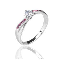 Casamento Dom 925 Silver Nano Corindo Vermelho Anéis Jóias Suite toca