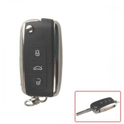 زر Modifed Flip Remote Key Shell 3 الخاص بـ VW Skoda 5 حزم لكل مجموعة