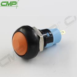 drukknop van het Lage Voltage van het Gat van 10mm de Plastic