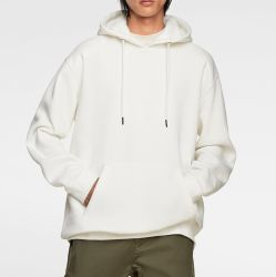 Unisex Basic White Essential Thick Hoodie