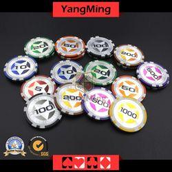 12g最終的なステッカーのポーカー用のチップのヨーロッパの粘土レーザーCasinochips; (YM-CY02)