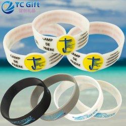Deporte Escolar personalizada mayorista pulseras de la energía de la actividad empresarial de regalo regalos de pulsera de silicona Coloridas artesanías Productos en promoción de la banda de la mano de goma