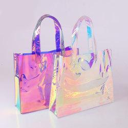 Le donne del laser di disegno/signore di lusso impermeabilizzano il regalo promozionale del sacchetto di acquisto del Tote della spalla di PVC/TPU