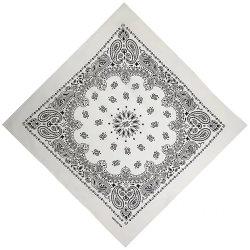A Magia personalizado de seda em branco impressão por sublimação de lenço de cabeça de algodão Biker