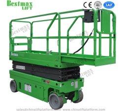 12m de color verde de 320 kg de carga nominal de elevación de la tijera Autopropulsada