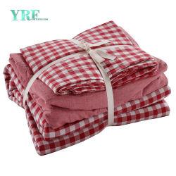 La literie en coton personnalisée de l'hôpital de gros draps de lit unique défini pour l'hôtel