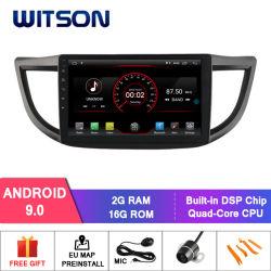 """Witson 10.2 """"ホンダオリジナルスクリーンとのCRVののための大きいスクリーンのアンドロイド9.0車DVD中間か高い2012-2015年"""