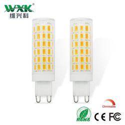 超明るいG9 LEDのトウモロコシランプAC220V 6W 7W SMD2835 LEDの水晶シリコーンの蝋燭は60-70Wハロゲンランプを取り替えるクリスマスの照明の球根によってがとのDimmable明滅し、