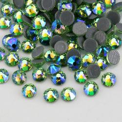 Kingswick 16 Rhinestones di cristallo poco costosi di scambio di calore del Rhinestone del Peridot ab Hotfix di sfaccettature all'ingrosso