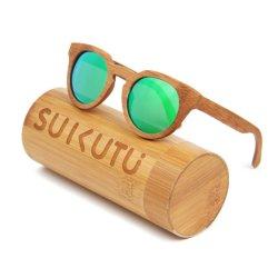 100% حماية [أوف] نظّارات شمس خشبيّة خيزرانيّ