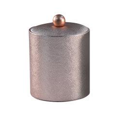 O logotipo personalizado do refrigerador de Champanhe folha de estanho Pele artificial de papel de parede dupla balde de gelo balde de gelo para Hotel