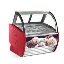 Gelato afficher avec l'armoire du compresseur congelés importés