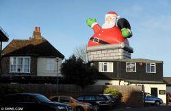 3м высоты гигантские надувные индивидуальные Санта Клаус для украшения