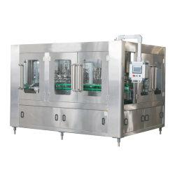 3 automatici in 1 macchina imballatrice di contrassegno di coperchiamento di riempimento di lavaggio della parte superiore della birra liquida del mestiere della bevanda di energia di bibita analcolica della bottiglia di vetro