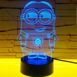 LED 3D'Illusion nuit Table lumineuse Lampe de bureau pour les enfants de don
