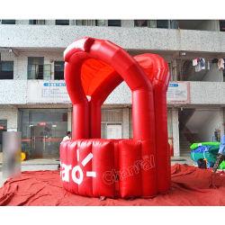 En PVC rouge petite tente gonflable pour la promotion