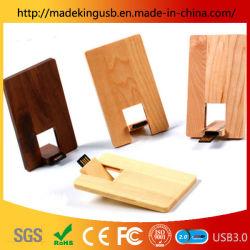 Le bois Card USB Stick/ Creative Bamboo Business Card lecteur Flash USB pour cadeau