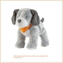 Jouet en peluche chien gris coussin d'animaux Commerce de gros cadeaux