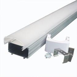IP68 Diffuseur supérieur en plastique pour couvrir l'aluminium Profil Tri-Proof LED