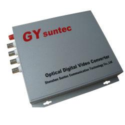 4CH Video+4CH optischer Audiolautsprecherempfänger (GY-4V-4ZA-TS)