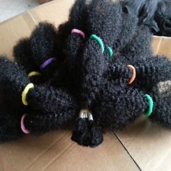 Fibre synthétique Kanekalon Kinky Afro sèche, Marley la tresse de cheveux, de l'Afro Kinky en vrac