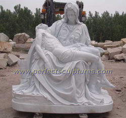 Lado da pedra esculpida Cristo Estátua Católica religiosos em mármore Igreja escultura de Jesus para jardins decorativos inicial (SY-X1212)
