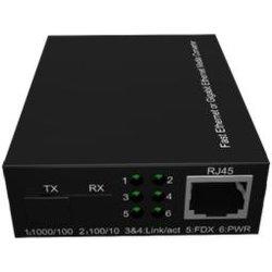 10/100/1000m optische Fiber Media Converter voor Gigabit Ethernet SFP-zendontvanger Poort