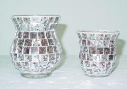 Mosaïque décoratifs en verre artisanal Bougeoir lampe de table
