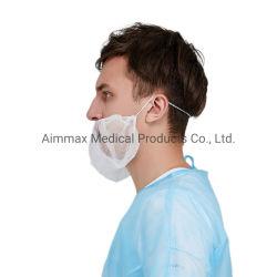 L'industrie alimentaire jetable couvercle PP Non-Woven Barbe Barbe masque avec élastique