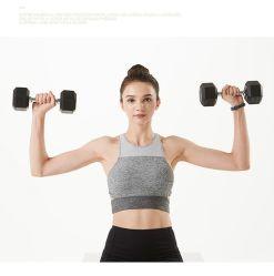 Фитнес-веса гантель с шестигранной головкой и тренажерный зал основного оборудования обрезиненные гантели с шестигранной головкой