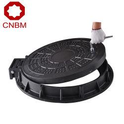 Cnbm de fundición de hierro dúctil Tapa de Registro de hierro dúctil B125 C250 D400 de 600 mm de diám.