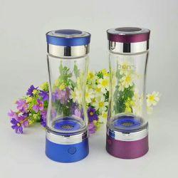 450 ml de agua Hidrógeno ricos recargable portátil botella generador, electrólisis del agua ionizador, Pure H2 Botella de agua alcalina