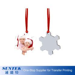 승화 인쇄의 자신의 나무로 되는 크리스마스 거는 장신구를 디자인하십시오
