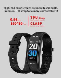 مناسب للطلاب الأكثر إثارة أزياء جديدة معدل نبضات القلب جهاز التحكم الذكي في درجة حرارة هيكل الضغط Bracelet Smart Watch Tracker النطاق
